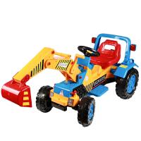 儿童电动挖掘机可坐可骑挖土机大号工程车大型男孩玩具钩机可坐人抖音 电动款