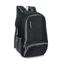 超轻便携双肩包皮肤包男女运动户外登山包可折叠旅行包防水运动包 黑色