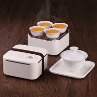户外泡茶壶简易功夫茶杯陶瓷小罐茶旅行茶具套装便携式收纳旅游包