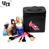 征伐 化妆箱 大容量化妆包多功能可爱便携手提化妆箱大号多层化妆盒户外出行收纳箱储物箱