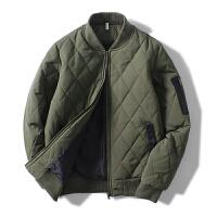 冬季潮空军飞行夹克加厚保暖棒球服外套棉衣男韩版修身