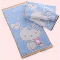 Hellokitty毛巾卡通洗脸面巾吸水童巾宝宝柔软家洗浴用品 46x26cm