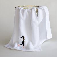 毛巾纯棉洗脸家用吸水小手巾健身房情侣吸汗跑步运动毛巾 110x34cm