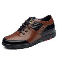 内增高男鞋 男士休闲皮鞋男式隐形增高鞋男6CM加绒加厚可选
