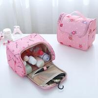 旅行洗漱包女可爱韩国便携护肤品收纳包大容量化妆包袋品手拿包
