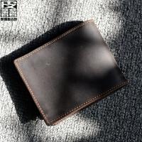 时尚新款 男士钱包 横短款时尚牛皮商务皮夹韩版钱夹潮