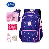 迪士尼儿童书包小学生4-6年级初中女童轻便背包女孩双肩包大容量