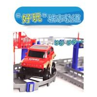 大火车模型通用铁制便捷式轨道门调节玩具小车轨道车子单个双层 抖音
