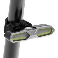 自行车灯USB充电尾灯山地车配件夜间LED警示灯前灯激光夜骑行装备