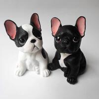 仿真狗摆件创意桌面办公室装饰树脂工艺品狗狗摆饰