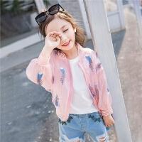 女童防晒衣外套韩版洋气儿童装薄款中大童夏季透气防晒衫
