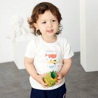 【1件2.5折到手价:21.3】米喜迪mecity童装男婴儿t恤鲸鱼印花短袖19夏新款宝宝衣服