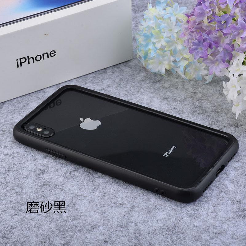 挂绳苹果Xs max手机壳边框iphone7plus套6s透明软硅胶8p简约女4.7 苹果Xr 磨砂纯黑色