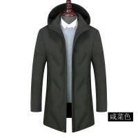 老年人冬装男中老年羽绒服中长款爸爸40-50岁中年人加厚冬季外套