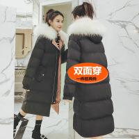 反季面服女中长款双面穿大毛领羽绒棉衣女韩版学生加厚冬装外套