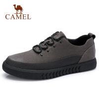 camel骆驼男鞋 真皮休闲皮鞋新款男韩版潮流休闲鞋子男士英伦板鞋