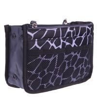 旅行洗漱用品整理袋包中包旅游女内胆化妆包大容量收纳包居家包包 白色 黑白配小