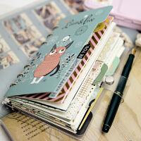 原创手帐本活页手账本套装随身a5a6旅行笔记本创意小清新记事本