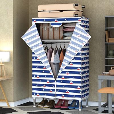 衣柜简易布衣柜钢管加粗加固单人小号学生宿舍家用组装布艺挂衣橱