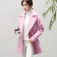 2018秋冬季新款呢子大衣修身韩版中长款毛呢外套女士