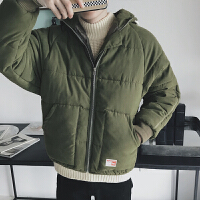 冬季外套学生男士棉衣连帽韩版潮冬装棉袄加厚面包服