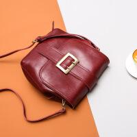 包包女包潮欧美风范单肩斜挎2018新款女包时尚百搭复古包 红色