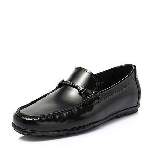 Belle/百丽2018春季新品专柜同款牛皮革男皮鞋39U18AM8