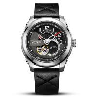 2018新款 美格尔机械表 全自动进口机芯真皮表带精钢运动男士手表