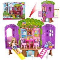 ?芭比娃娃小凯莉树屋休闲屋大别墅城堡套装女孩公主礼盒玩具FPF83中国? 约25cm