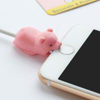 苹果安卓充电器数据线保护头咬一口ipad充电器保护线iPhone通用咬咬防断裂耳机手机