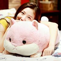 龙猫暖手抱枕娃娃公仔仓鼠小猪玩偶毛绒玩具可爱儿童生日礼物女生