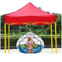 户外广告四角帐篷伞摆摊雨棚折叠帐篷印字伸缩车棚大伞雨篷遮阳棚