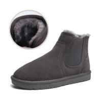 雪地靴男冬季加绒保暖真皮高帮棉靴子防水防滑情侣切尔西面包棉鞋