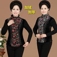 妈妈装秋冬装打底衫加绒加厚中老年人女装上衣高领中年T恤40-50岁