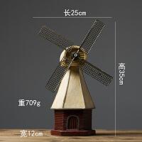 创意复古摆设酒柜荷兰风车模型摆件小家居客厅北欧店铺美式装饰品