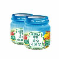 亨氏佐餐泥 婴儿佐餐素泥混合水果泥113g*2 宝宝辅食