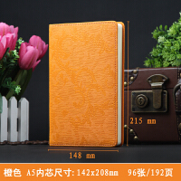 商务皮面记事本子A5创意欧式笔记本文具办公用品日记本定制