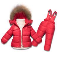 儿童羽绒服女宝宝套装加厚男童冬装女童婴幼儿童装1-2-3-4岁冬款