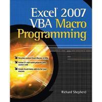 【预订】Excel 2007 VBA Macro Programming