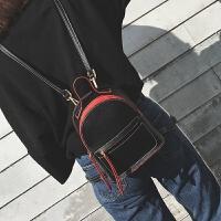 新款迷你双肩包女英伦风学院色简约定型小背包韩国书包小包