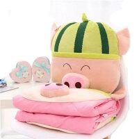 卡通多功能午睡枕头汽车抱枕被子两用靠垫被空调被夏凉被靠枕毯子