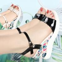 夏季新款女鞋凉鞋女高跟鞋平底坡跟鞋子女学生鞋粗跟鱼嘴女鞋