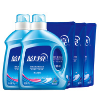 蓝月亮14斤洗衣液套装:机洗瓶装2kg*2+亮白增艳袋装1kg*3