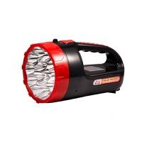 强光手电筒手提家用探照灯户外充电式LED超亮手电巡逻多功能 15+6颗LED灯珠/2合一双用
