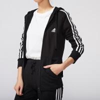#超品日满200减60#Adidas/阿迪达斯女装 针织运动休闲夹克外套 S97065
