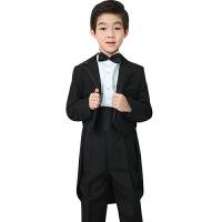 儿童西装 男童西装套装韩版西服儿童礼服韩版钢琴演出花童小提琴9533 燕尾服5件套