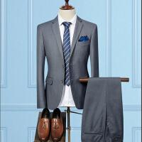 2018新款上班商务西装男套装男士正装西服职业英伦风修身韩版休闲三件套装