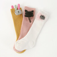 3双春秋款长筒宝宝0-6-12个月宝宝袜子婴儿袜子松口袜