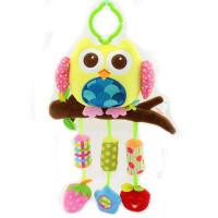 ?婴儿动物风铃宝宝0-1岁新生儿玩具床铃推车床挂毛绒0-3-6个月?