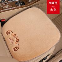 冬季羊毛汽车坐垫单片三件套无靠背短毛绒座垫套女保暖毛垫